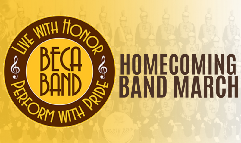 BECAHI Band Alumni are invited to march at Homecoming